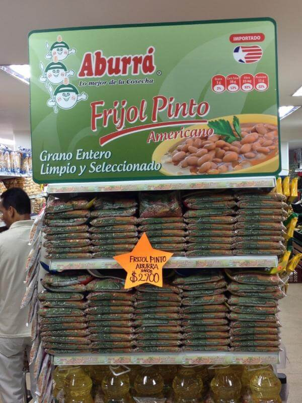 In Store Promotion of U.S. dry beans  in Colombia with Aburra in 2016