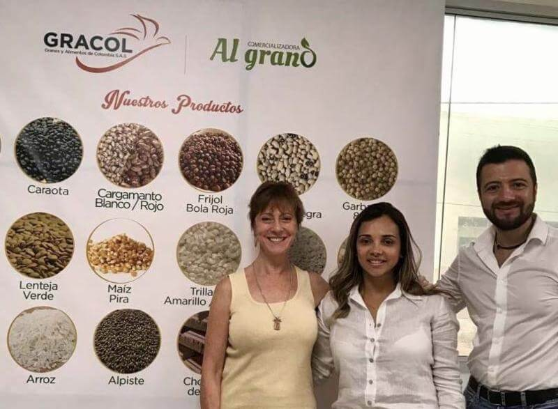 USDBC's Americas Director Ellen Levinson and Colombia program manager Jose Barrios Turk with Karen Alvarez from Gracol (center).